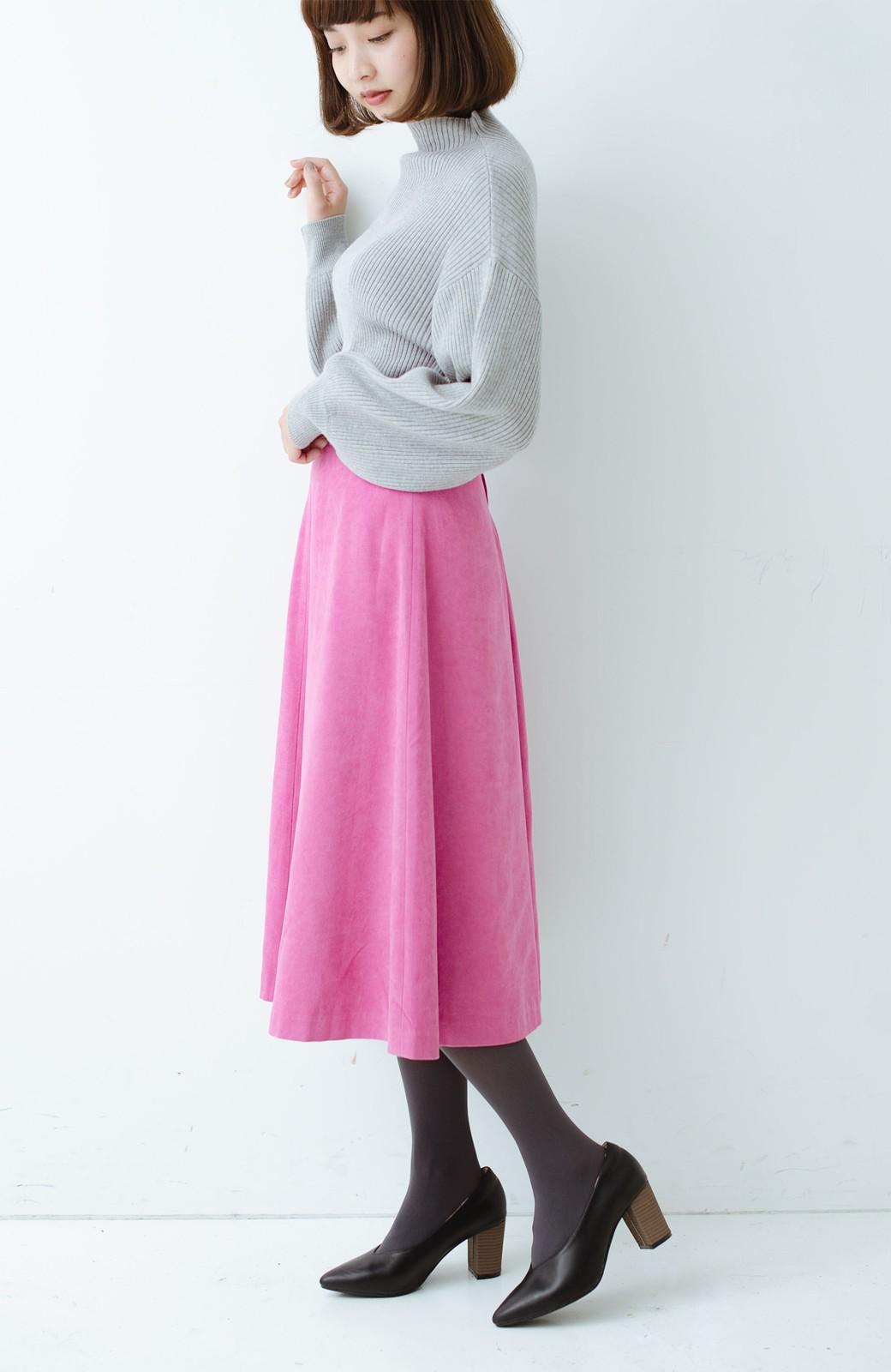 haco! 女っぽく上品に見える フレアースカート by que made me <ピンク>の商品写真14