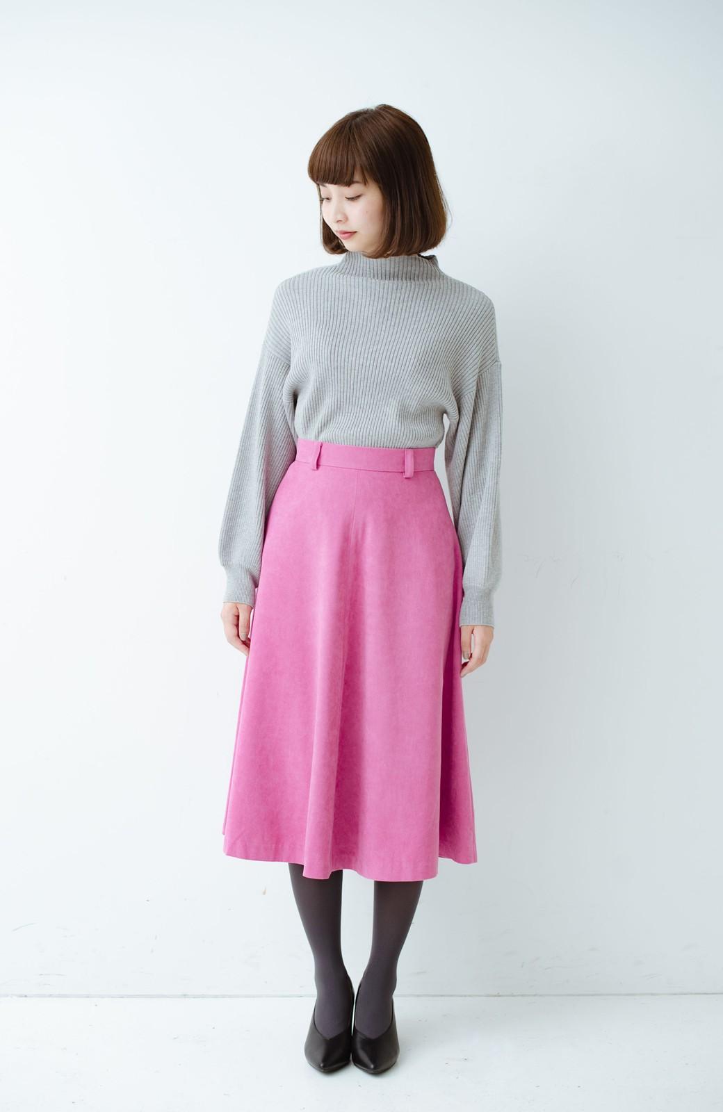 haco! 女っぽく上品に見える フレアースカート by que made me <ピンク>の商品写真8
