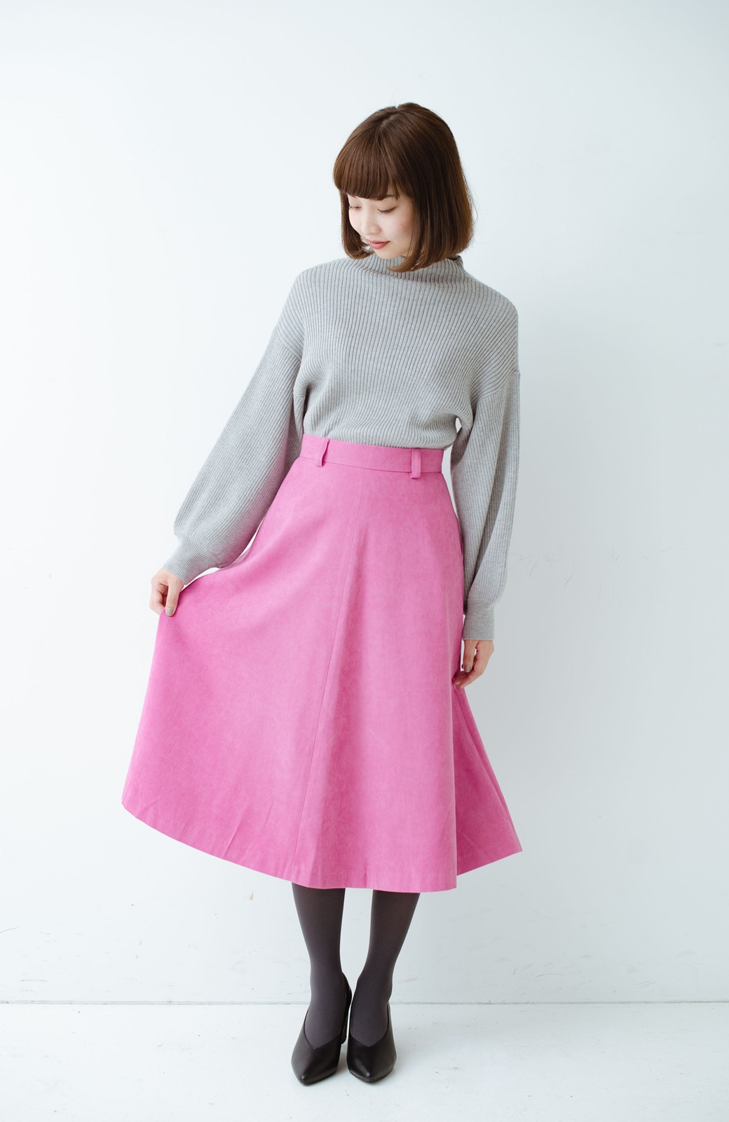 haco! 女っぽく上品に見える フレアースカート by que made me <ピンク>の商品写真9