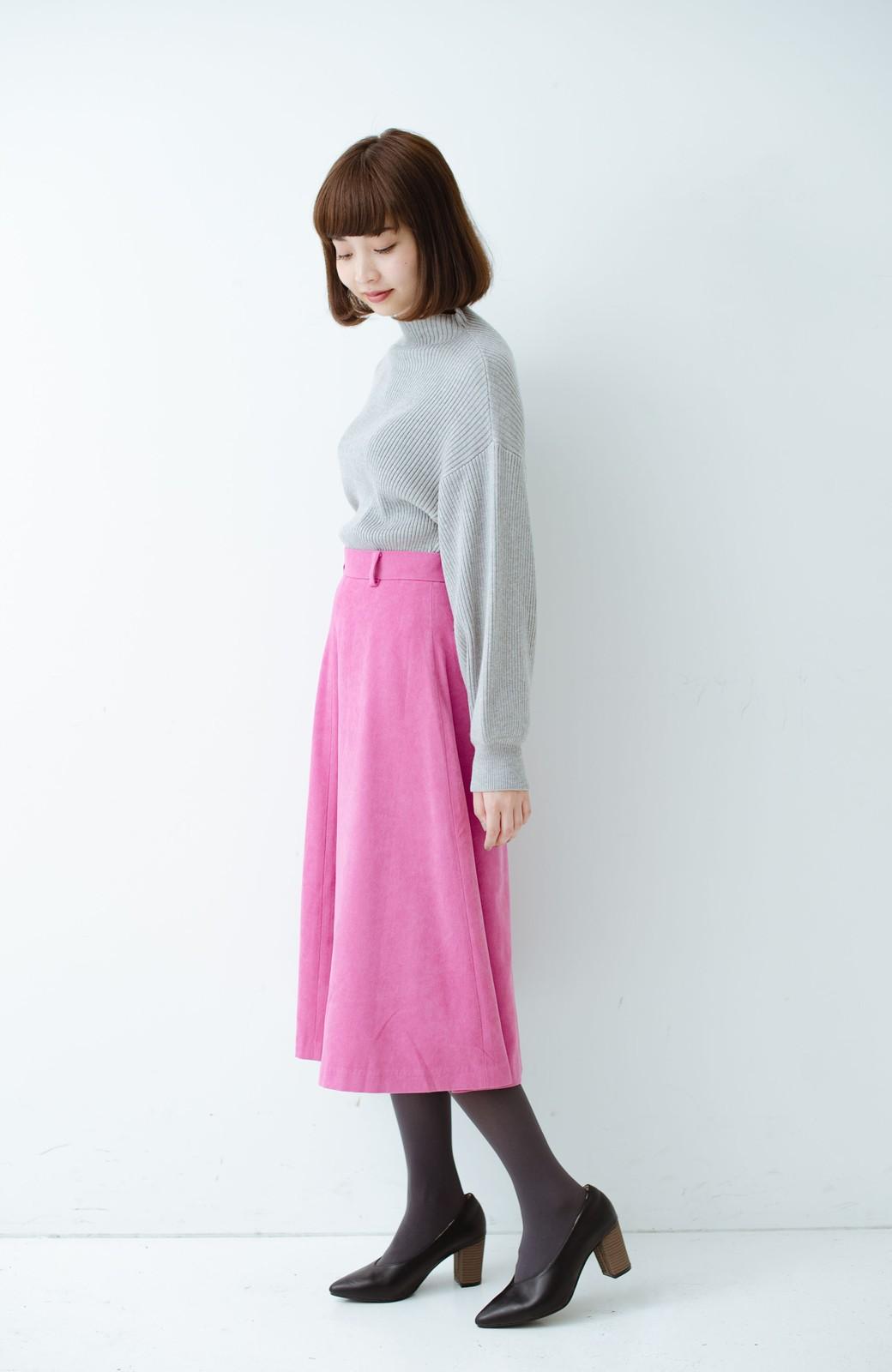 haco! 女っぽく上品に見える フレアースカート by que made me <ピンク>の商品写真10