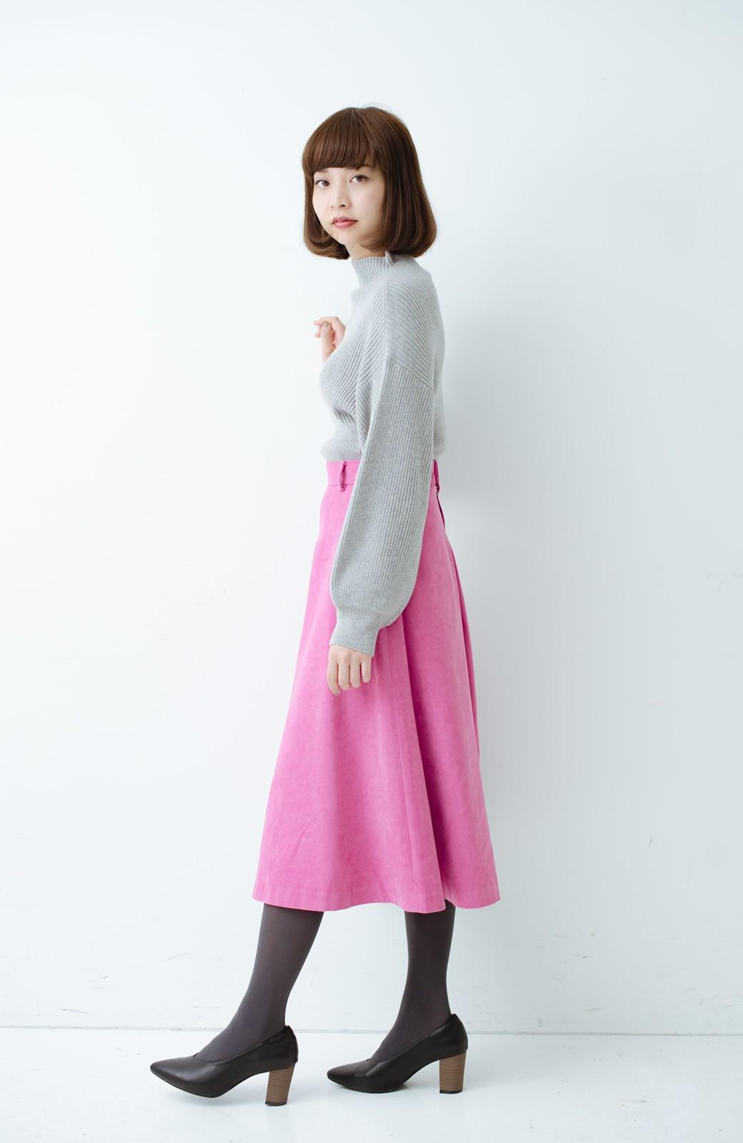 haco! 女っぽく上品に見える フレアースカート by que made me <ピンク>の商品写真11