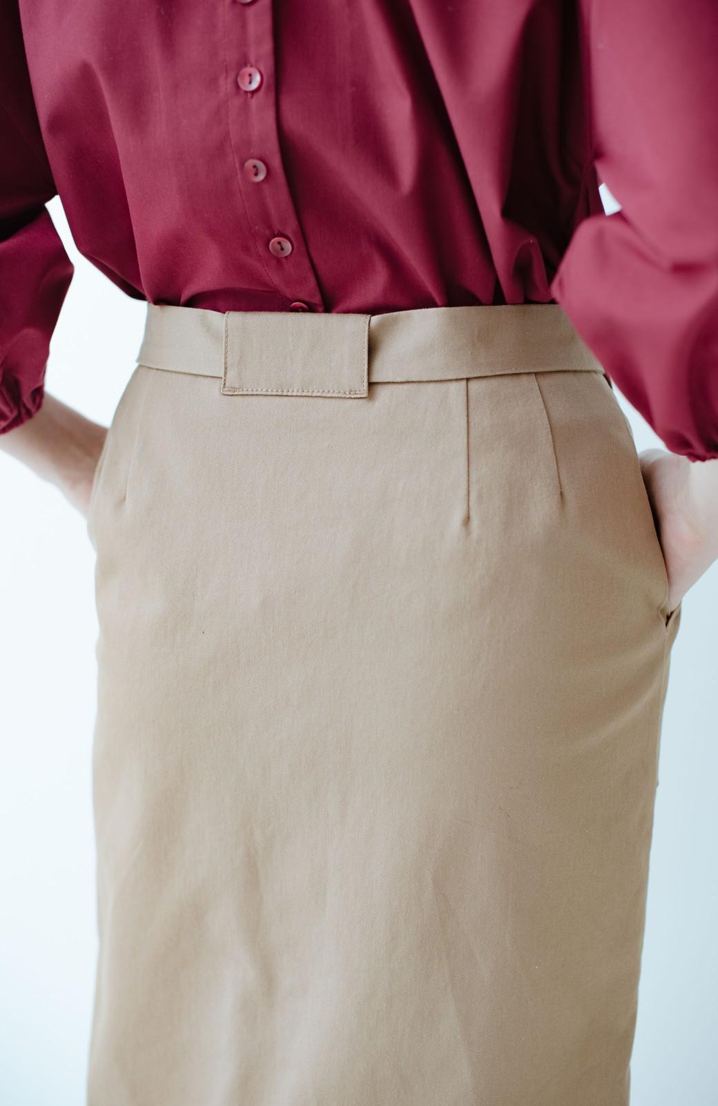 haco! パッと着るだけで女らしくてかっこいい ラップ風ストレッチスカート by que made me <ベージュ>の商品写真6