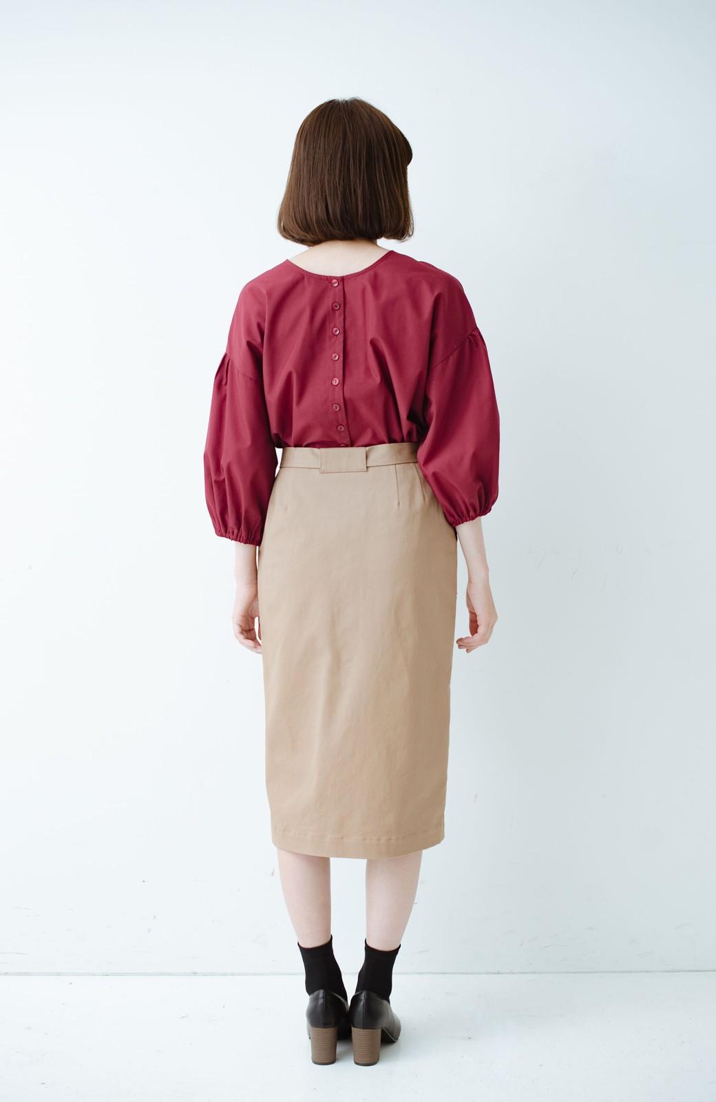 haco! パッと着るだけで女らしくてかっこいい ラップ風ストレッチスカート by que made me <ベージュ>の商品写真11