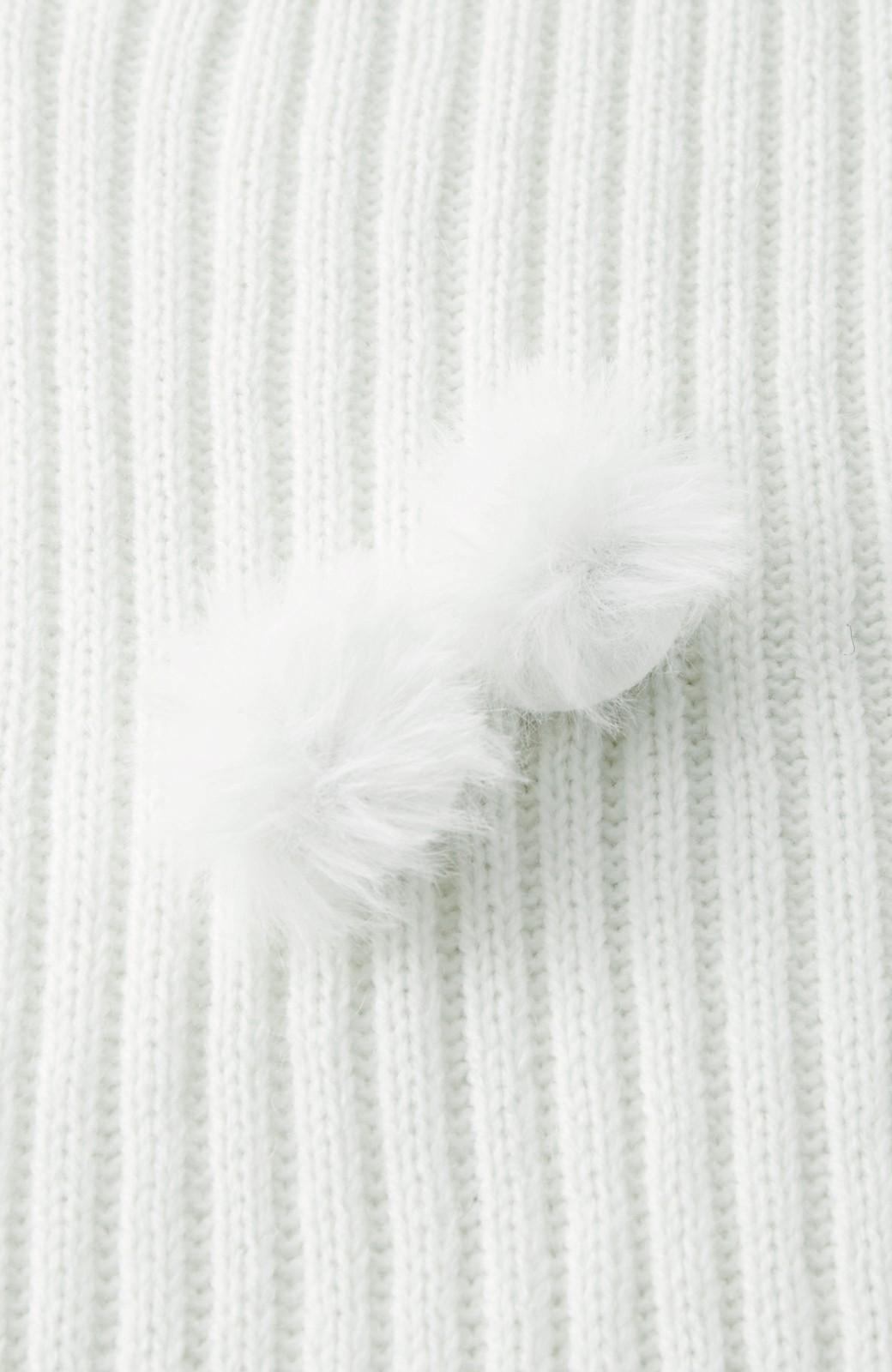 haco! うさぎシルエットのアンチピリングニットジャンパースカート <オフホワイト>の商品写真3