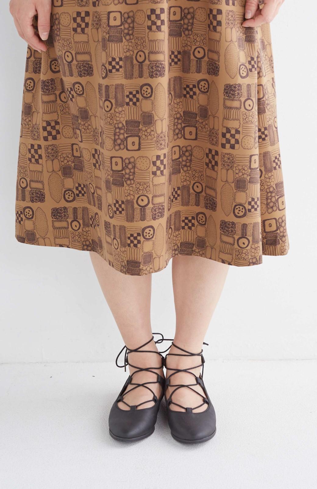 nusy 足もとポイントの編み上げパンプス <ブラック>の商品写真16