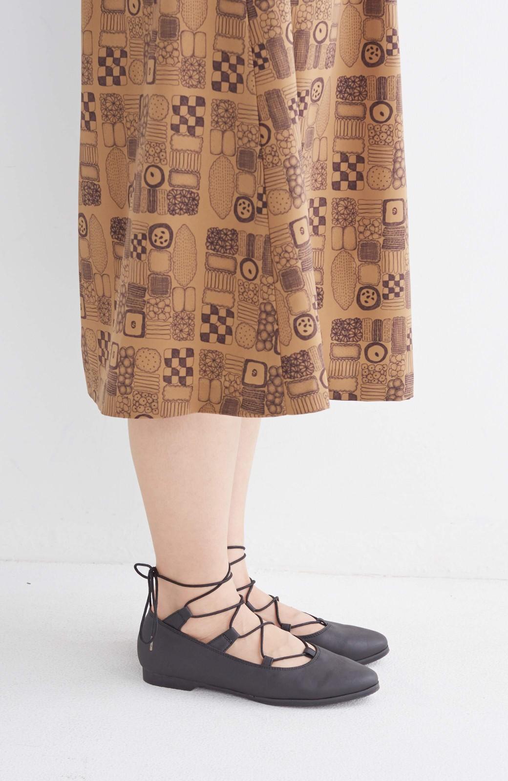 nusy 足もとポイントの編み上げパンプス <ブラック>の商品写真17