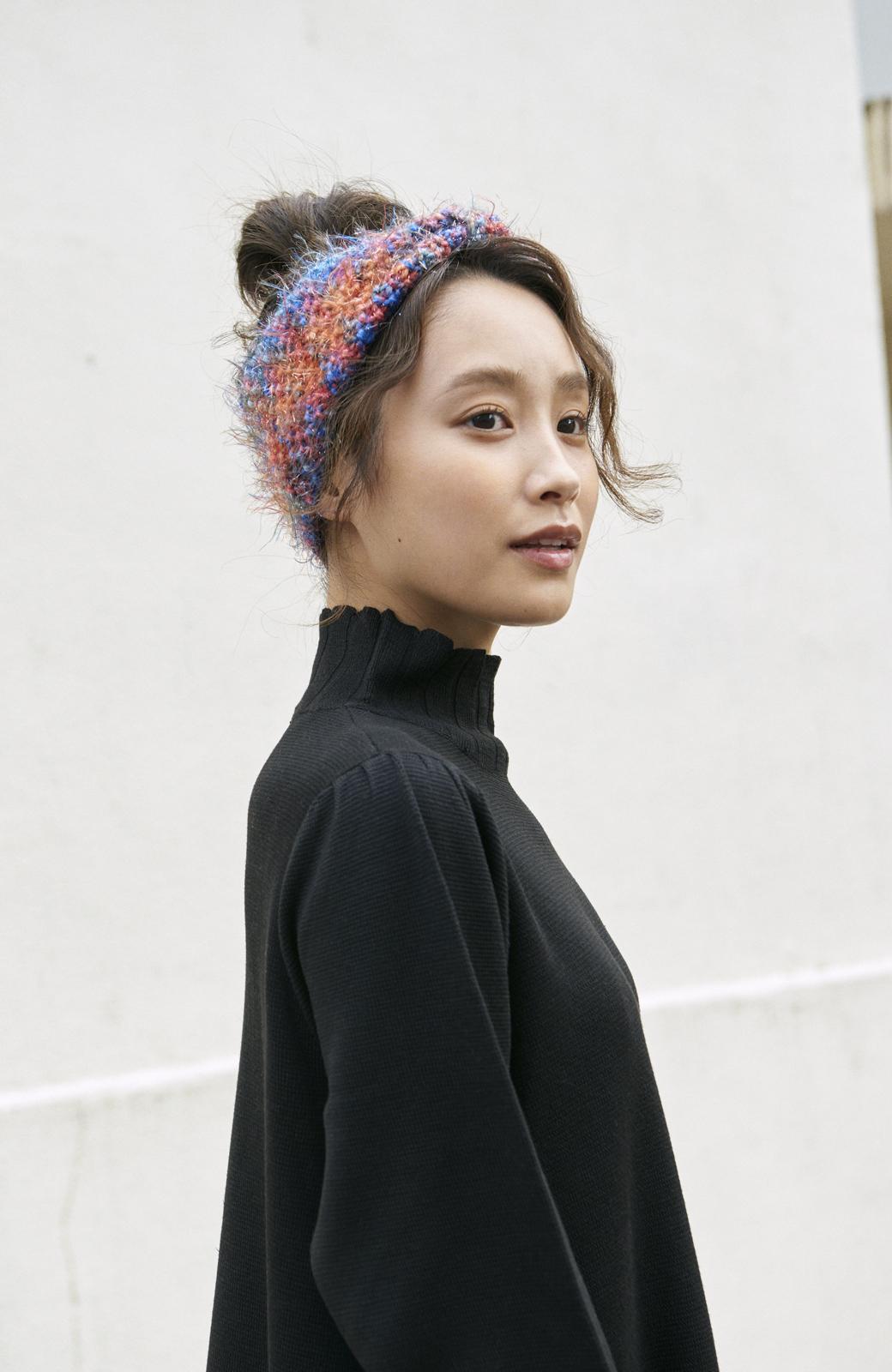 haco! <高橋愛さんコラボ>ラブ&ピースプロジェクト  フレアーヘムラインニットワンピース <ブラック>の商品写真11