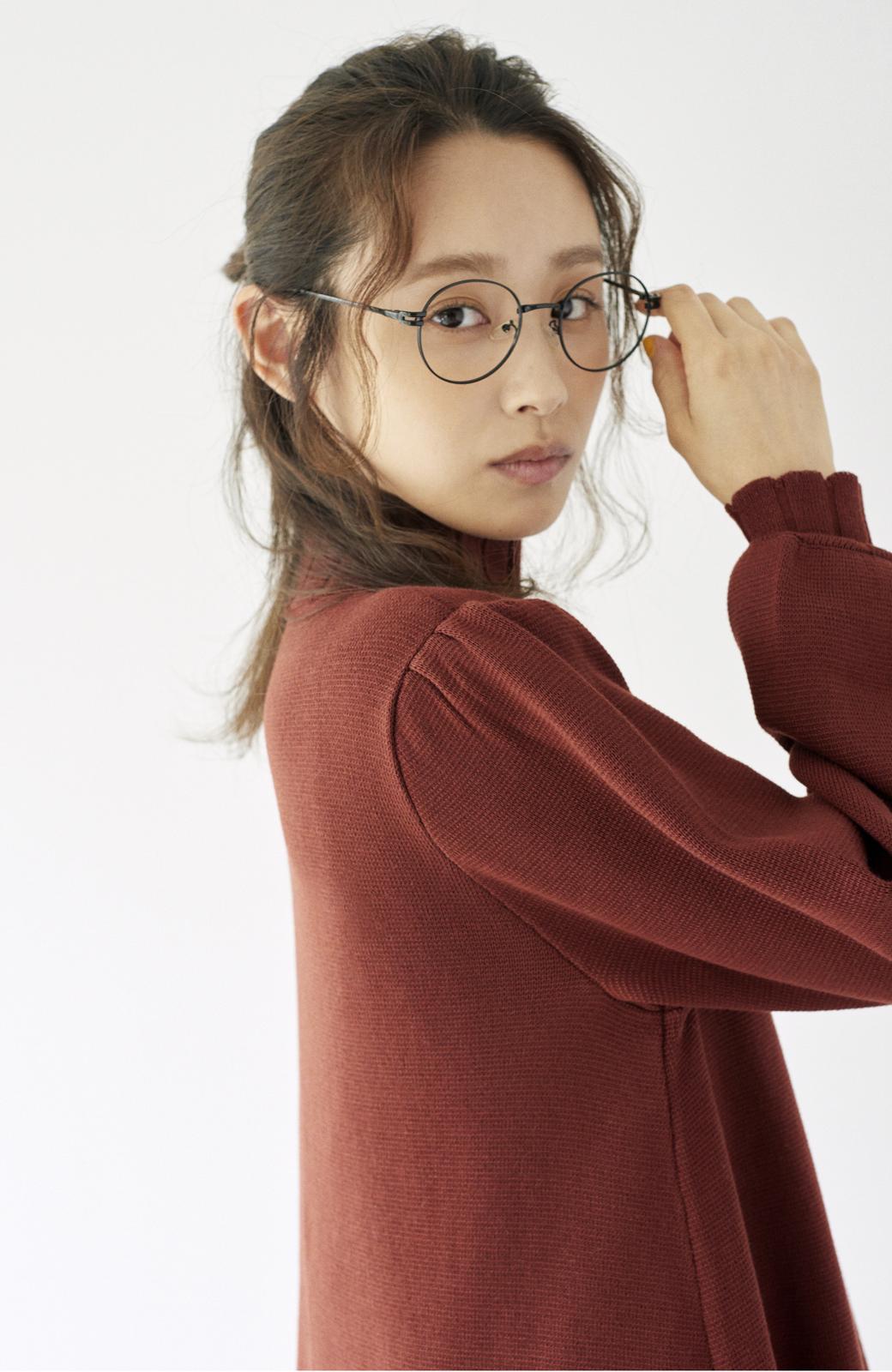 haco! <高橋愛さんコラボ>ラブ&ピースプロジェクト  フレアーヘムラインニットワンピース <ブラウン>の商品写真15