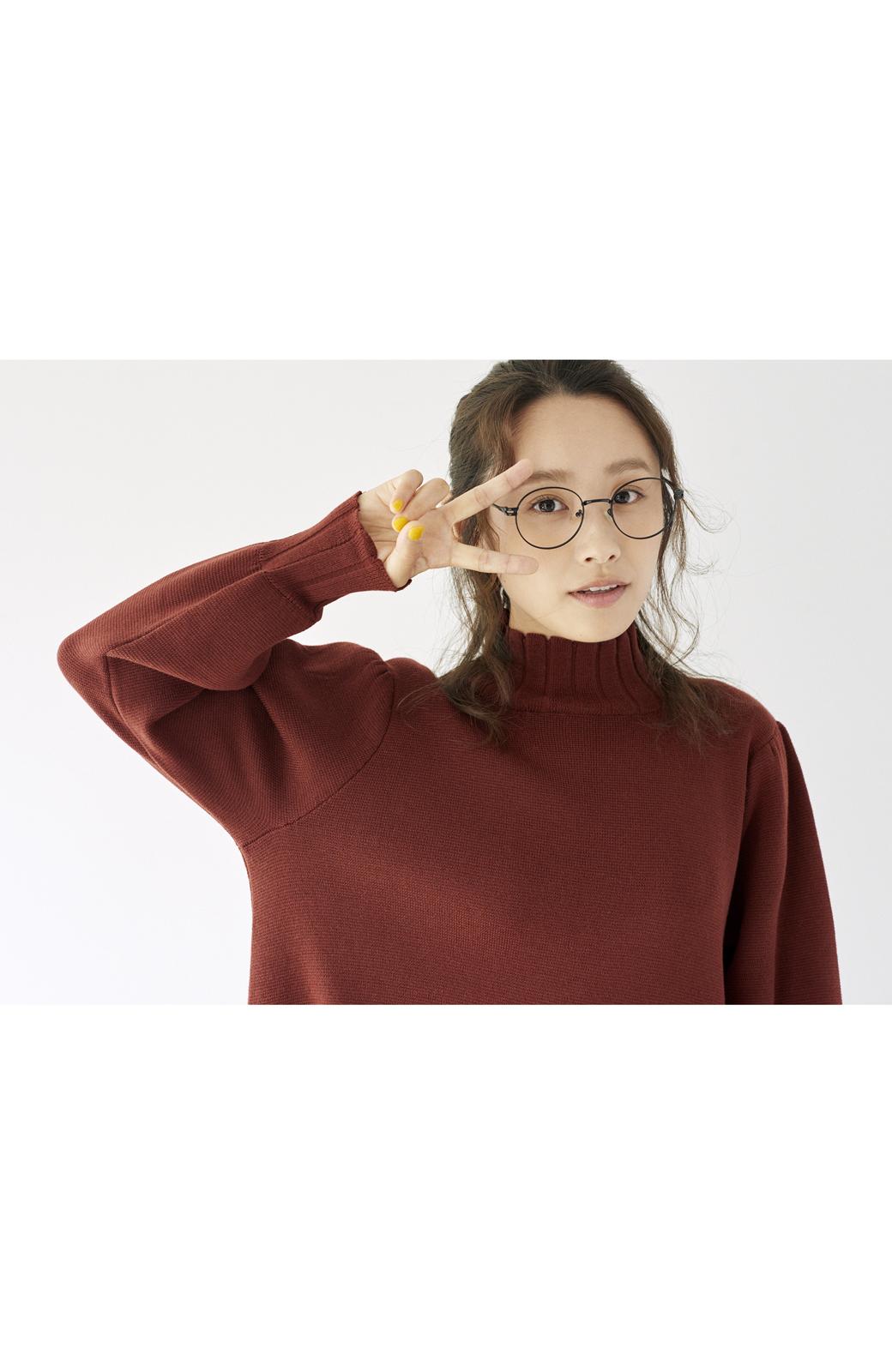 haco! <高橋愛さんコラボ>ラブ&ピースプロジェクト  フレアーヘムラインニットワンピース <ブラウン>の商品写真18