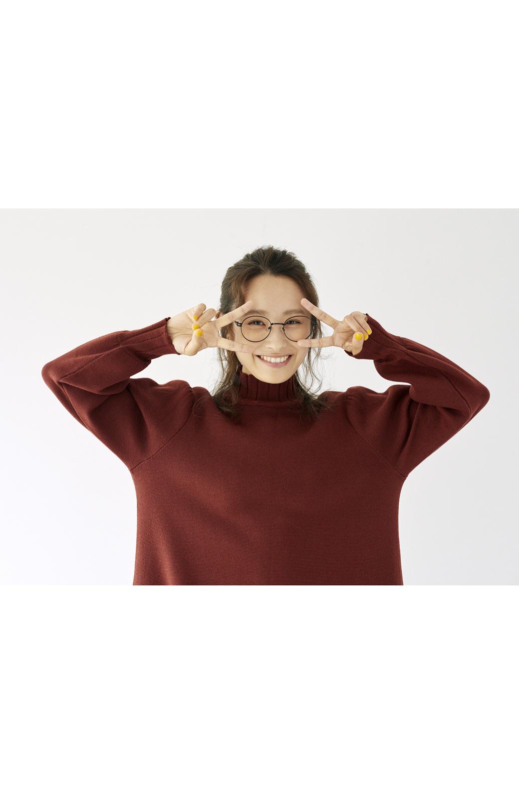 haco! <高橋愛さんコラボ>ラブ&ピースプロジェクト  フレアーヘムラインニットワンピース <ブラウン>の商品写真19