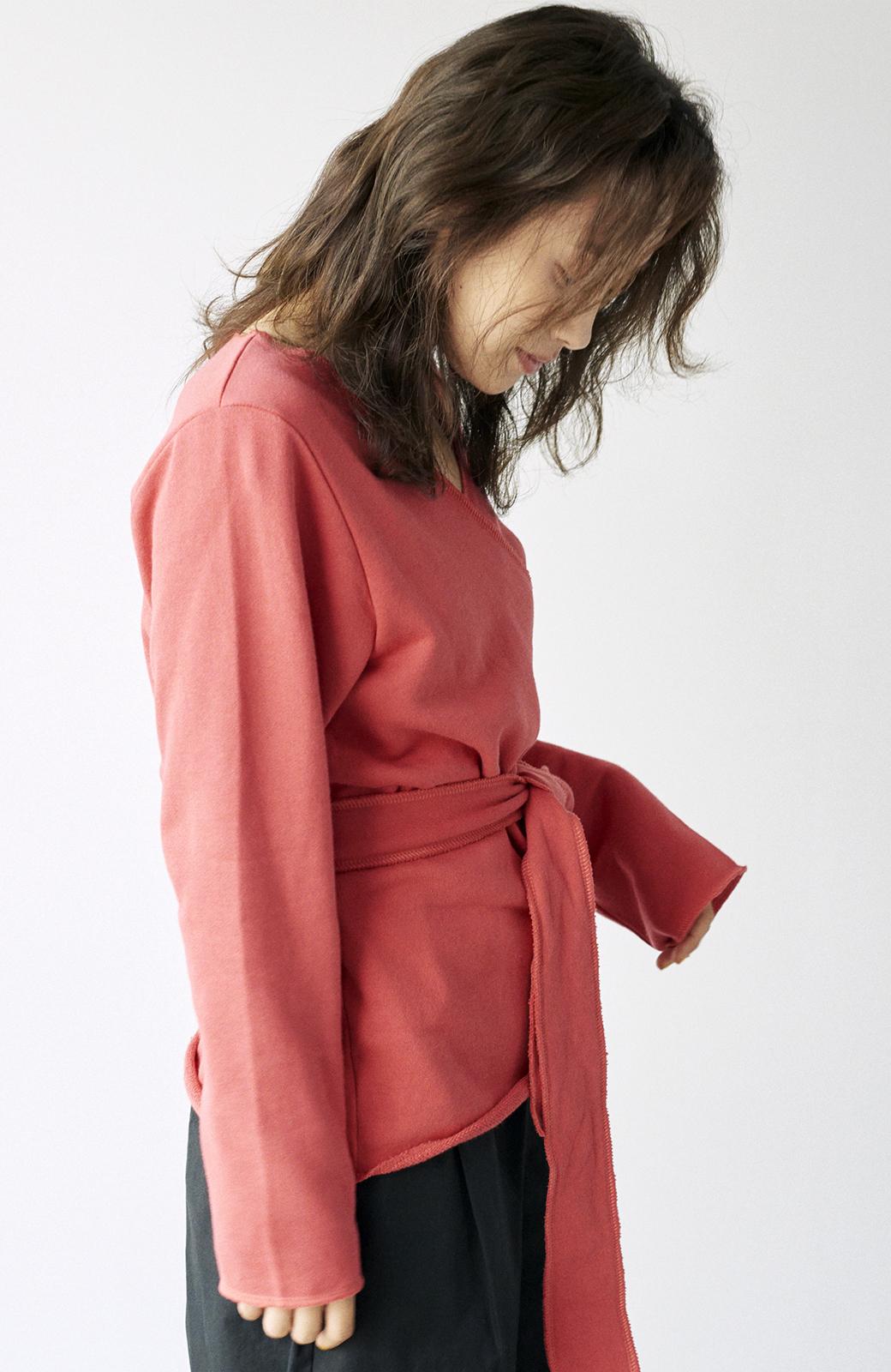haco! <高橋愛さんコラボ>ラブ&ピースプロジェクト  カシュクールスウェットトップス <レッド>の商品写真19