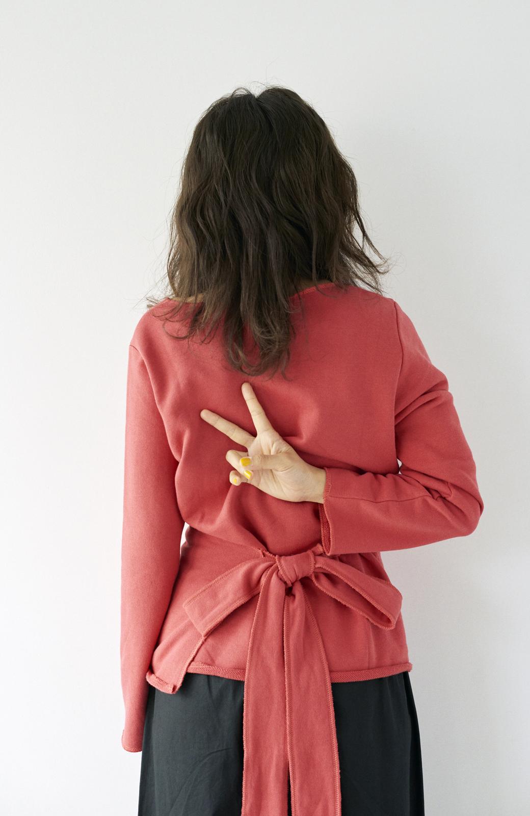 haco! <高橋愛さんコラボ>ラブ&ピースプロジェクト  カシュクールスウェットトップス <レッド>の商品写真22