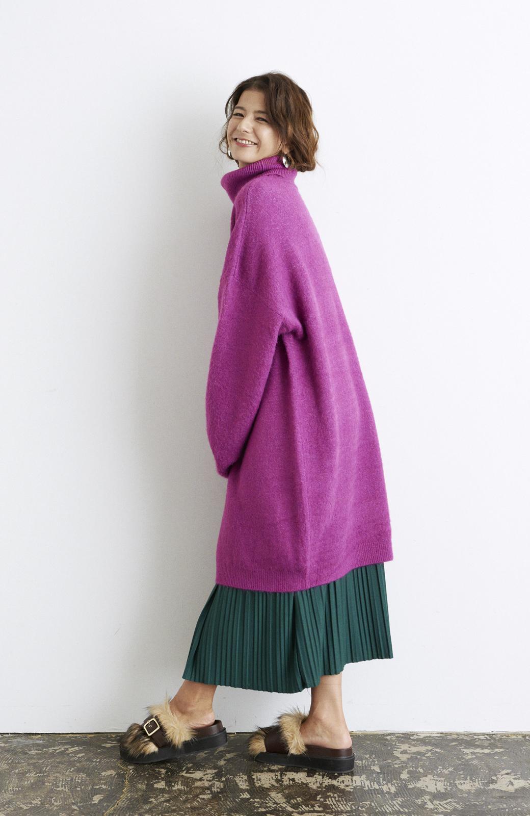 haco! <スザンヌさんコラボ>ラブ&ピースプロジェクト ニットワンピ&チュール刺しゅうスカートセット <パープル系その他>の商品写真19