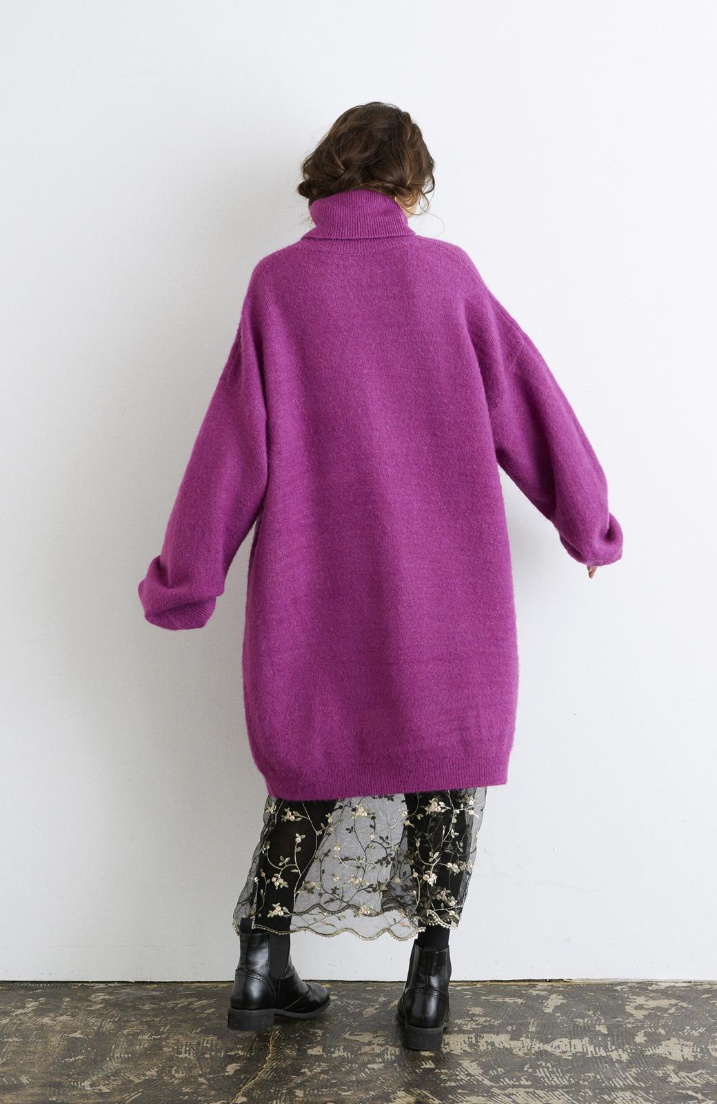 haco! <スザンヌさんコラボ>ラブ&ピースプロジェクト ニットワンピ&チュール刺しゅうスカートセット <パープル系その他>の商品写真11