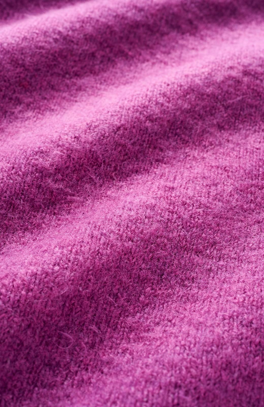 haco! <スザンヌさんコラボ>ラブ&ピースプロジェクト ニットワンピ&チュール刺しゅうスカートセット <パープル系その他>の商品写真4