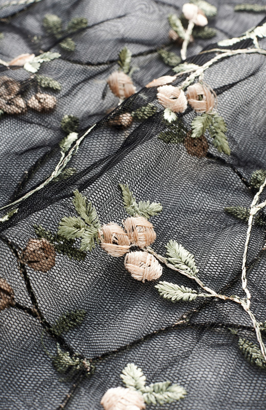 haco! <スザンヌさんコラボ>ラブ&ピースプロジェクト ニットワンピ&チュール刺しゅうスカートセット <パープル系その他>の商品写真6