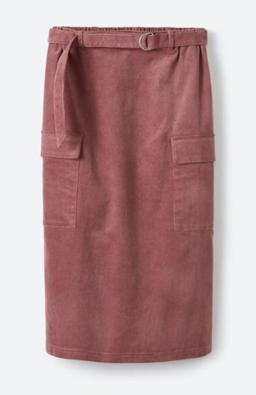 haco! すっきり見えて動きやすい ストレッチコーデュロイのタイトスカート <ピンク>の商品写真
