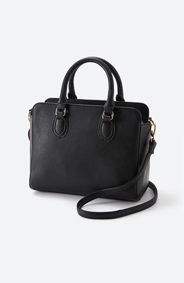 haco! おでかけに便利な異素材トートバッグ <ブラック>の商品写真