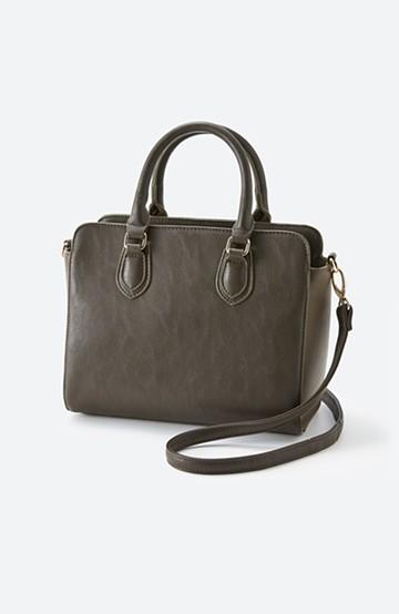 haco! おでかけに便利な異素材トートバッグ <カーキブラウン>の商品写真