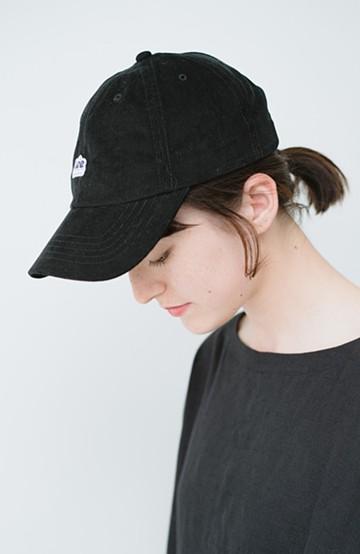 haco! Lady Lee ロゴがかわいいコーデュロイキャップ <ブラック>の商品写真