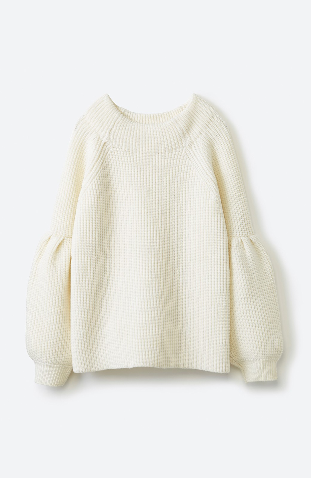 haco! 女子度があがる あぜ編みふわスリーブニット <オフホワイト>の商品写真1
