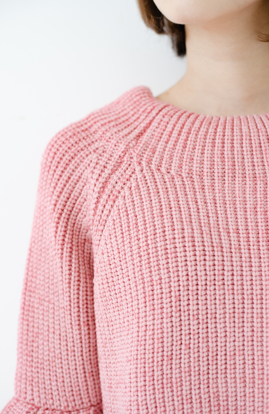 haco! 女子度があがる あぜ編みふわスリーブニット <ピンク>の商品写真2
