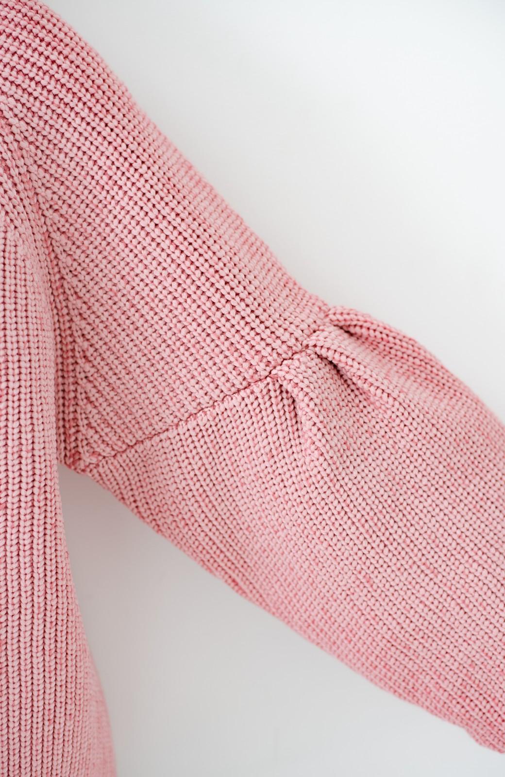 haco! 女子度があがる あぜ編みふわスリーブニット <ピンク>の商品写真3