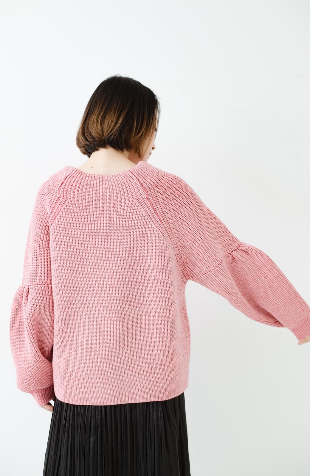 haco! 女子度があがる あぜ編みふわスリーブニット <ピンク>の商品写真15