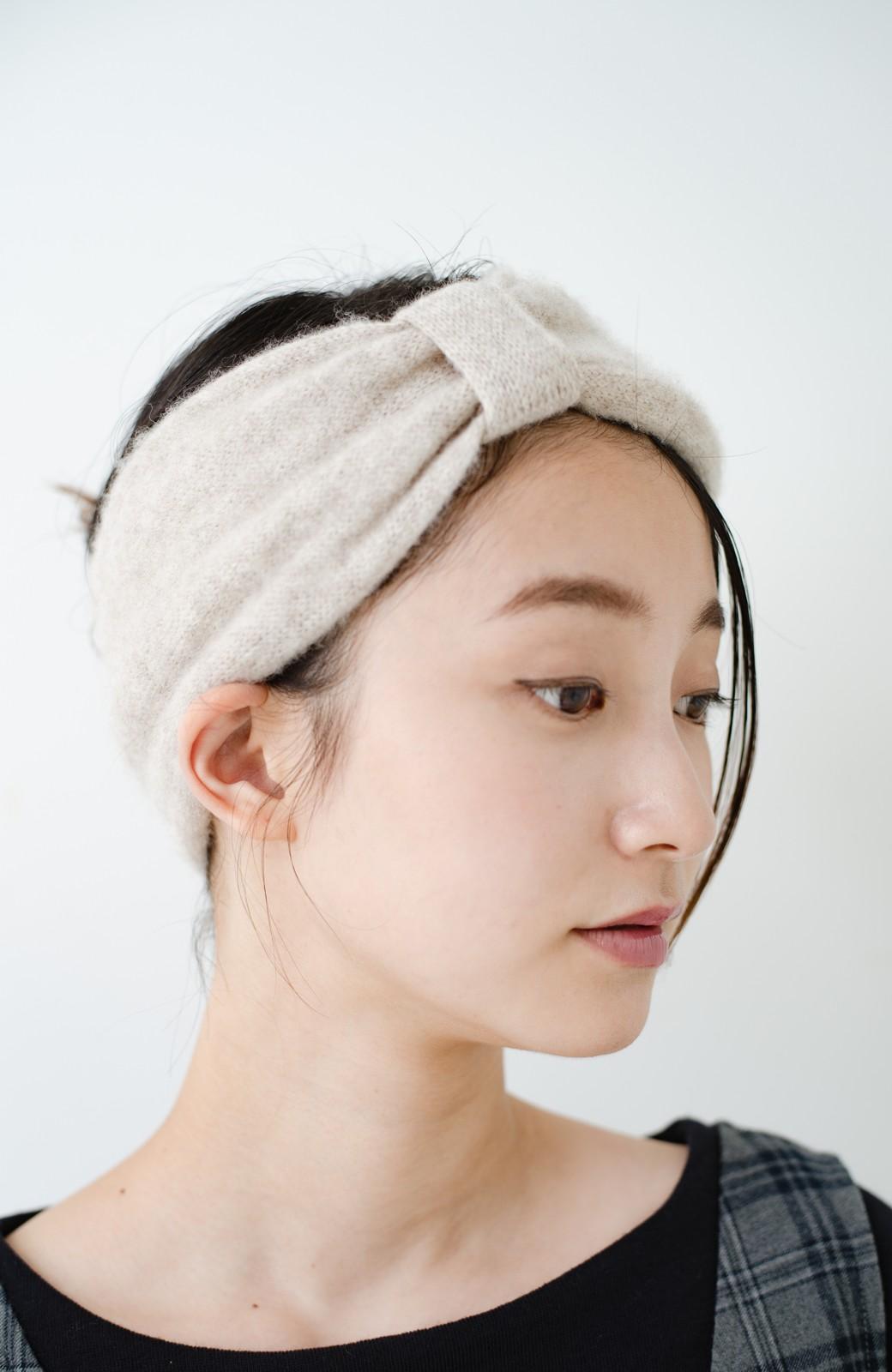 haco! Odds CASHMERE MOFUMOFU HAIR BAND <ベージュ>の商品写真3
