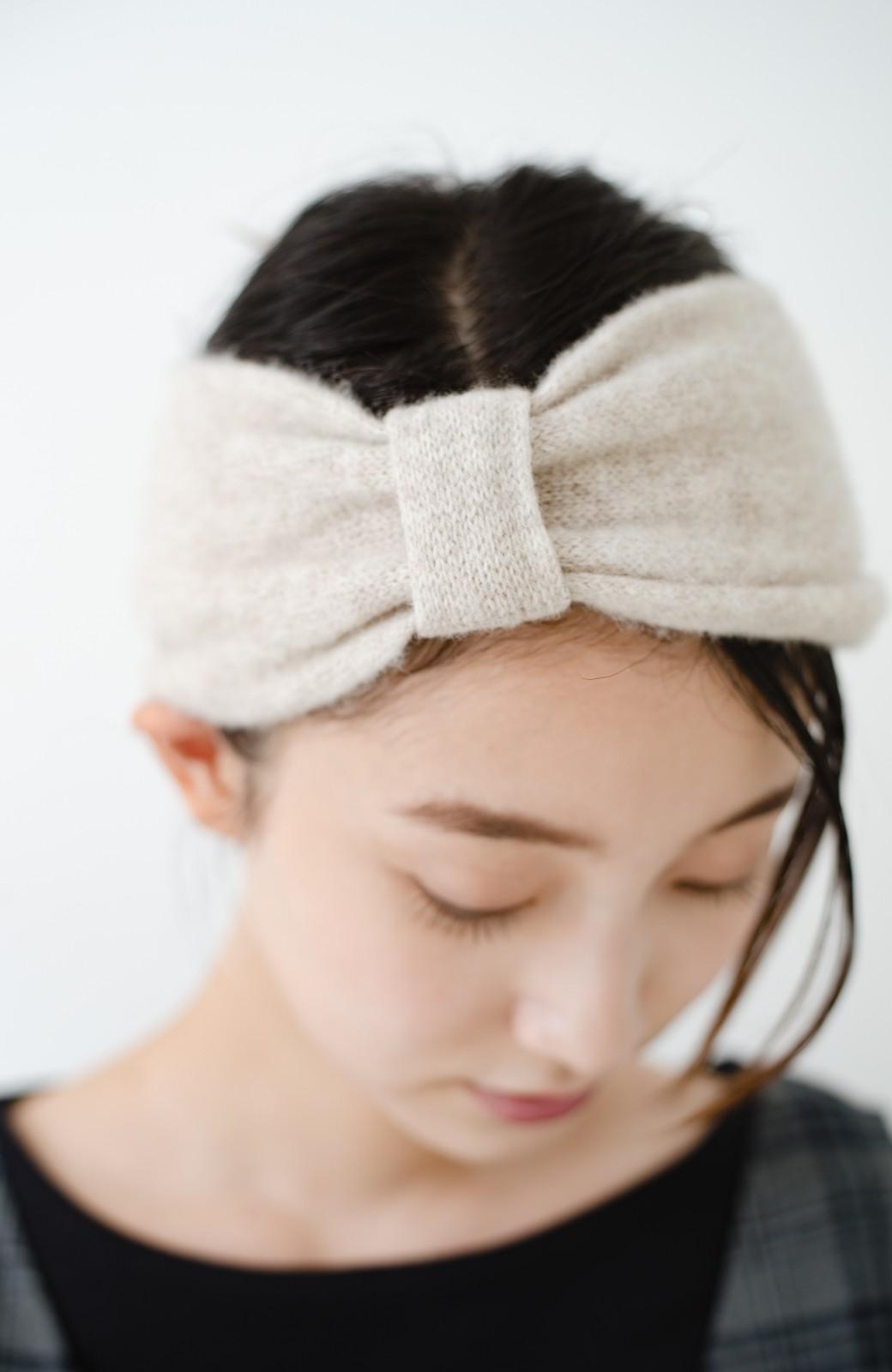 haco! Odds CASHMERE MOFUMOFU HAIR BAND <ベージュ>の商品写真4