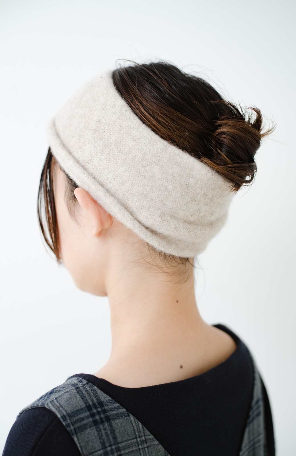 haco! Odds CASHMERE MOFUMOFU HAIR BAND <ベージュ>の商品写真6
