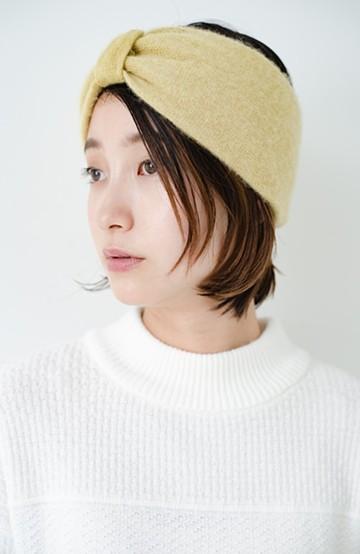 haco! Odds CASHMERE MOFUMOFU HAIR BAND <マスタード>の商品写真
