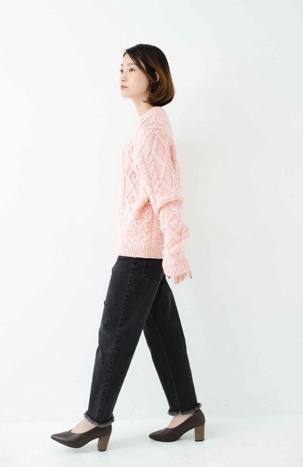 haco! 古着屋さんで見つけたようなもっふりケーブル編みセーター <ピンク>の商品写真11
