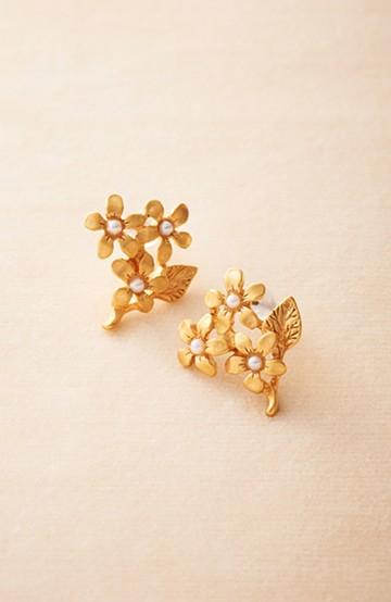 haco! 大人かわいい お花のピアス&イヤリング <ゴールド>の商品写真