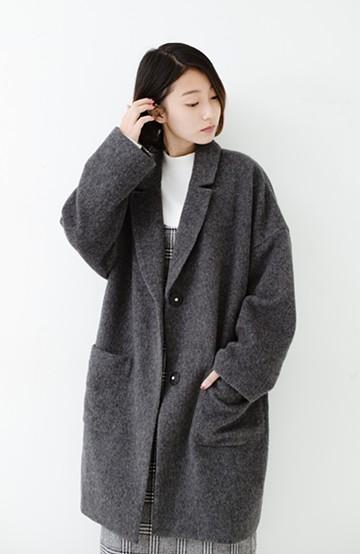 haco! MADE IN JAPAN生地を使用した ゆったりビッグシルエットコート <グレー系その他>の商品写真