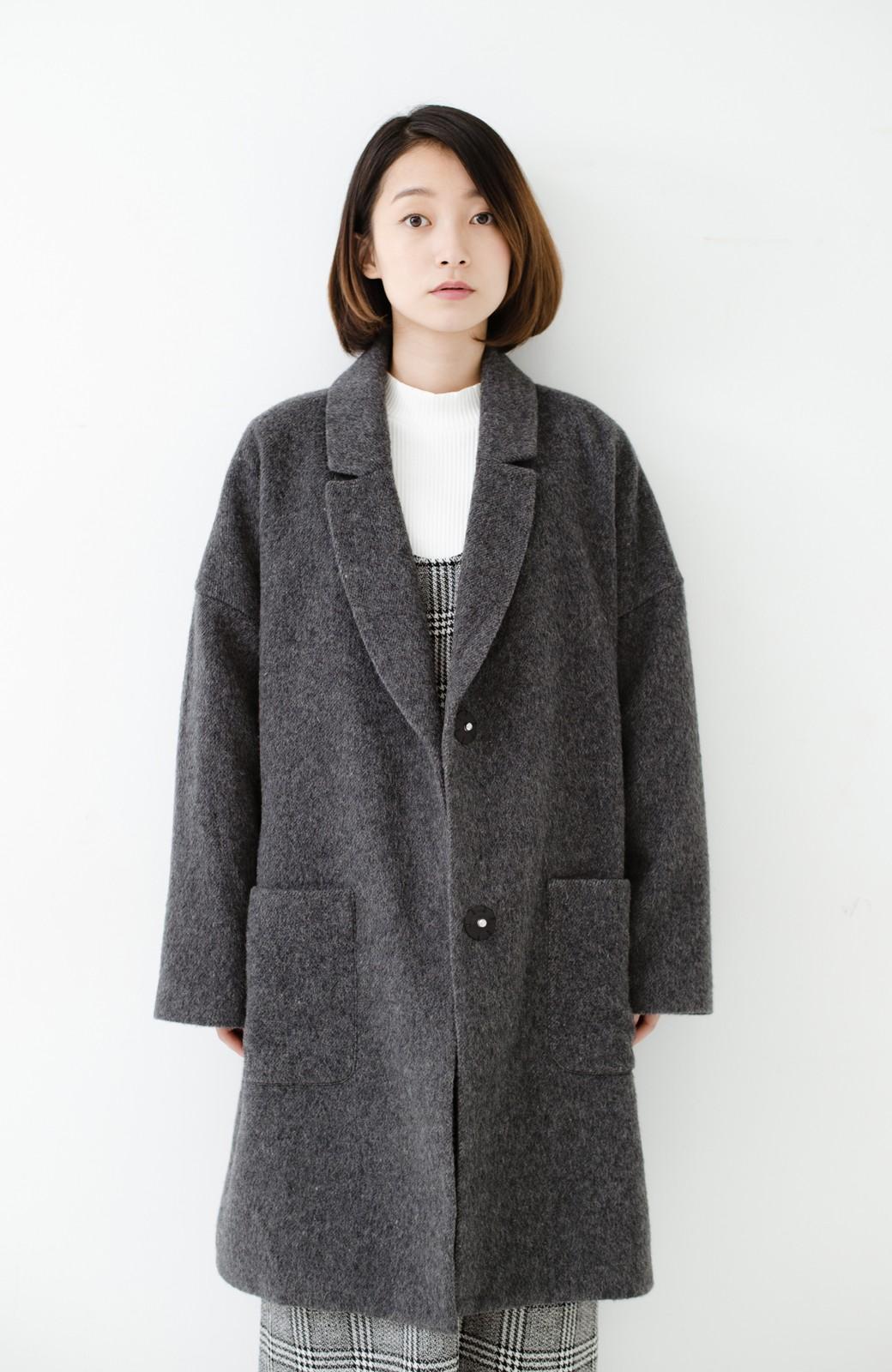 haco! MADE IN JAPAN生地を使用した ゆったりビッグシルエットコート <グレー系その他>の商品写真23