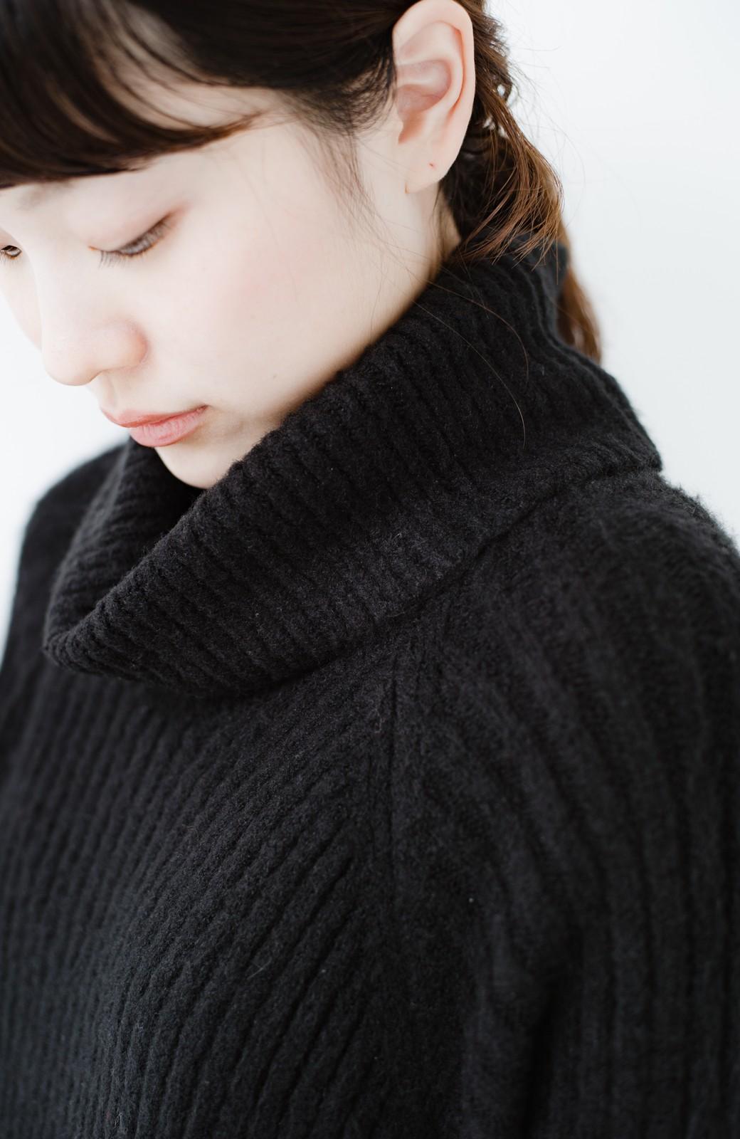 haco! 女っぽニットワンピース <ブラック>の商品写真2