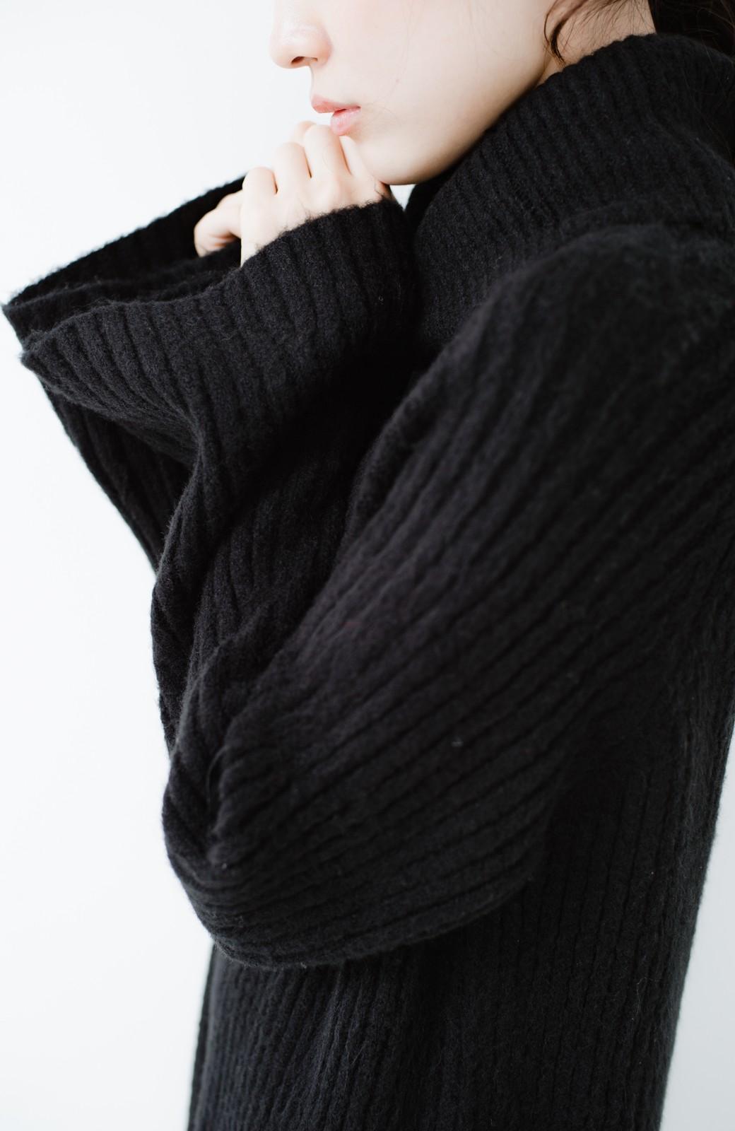 haco! 女っぽニットワンピース <ブラック>の商品写真3