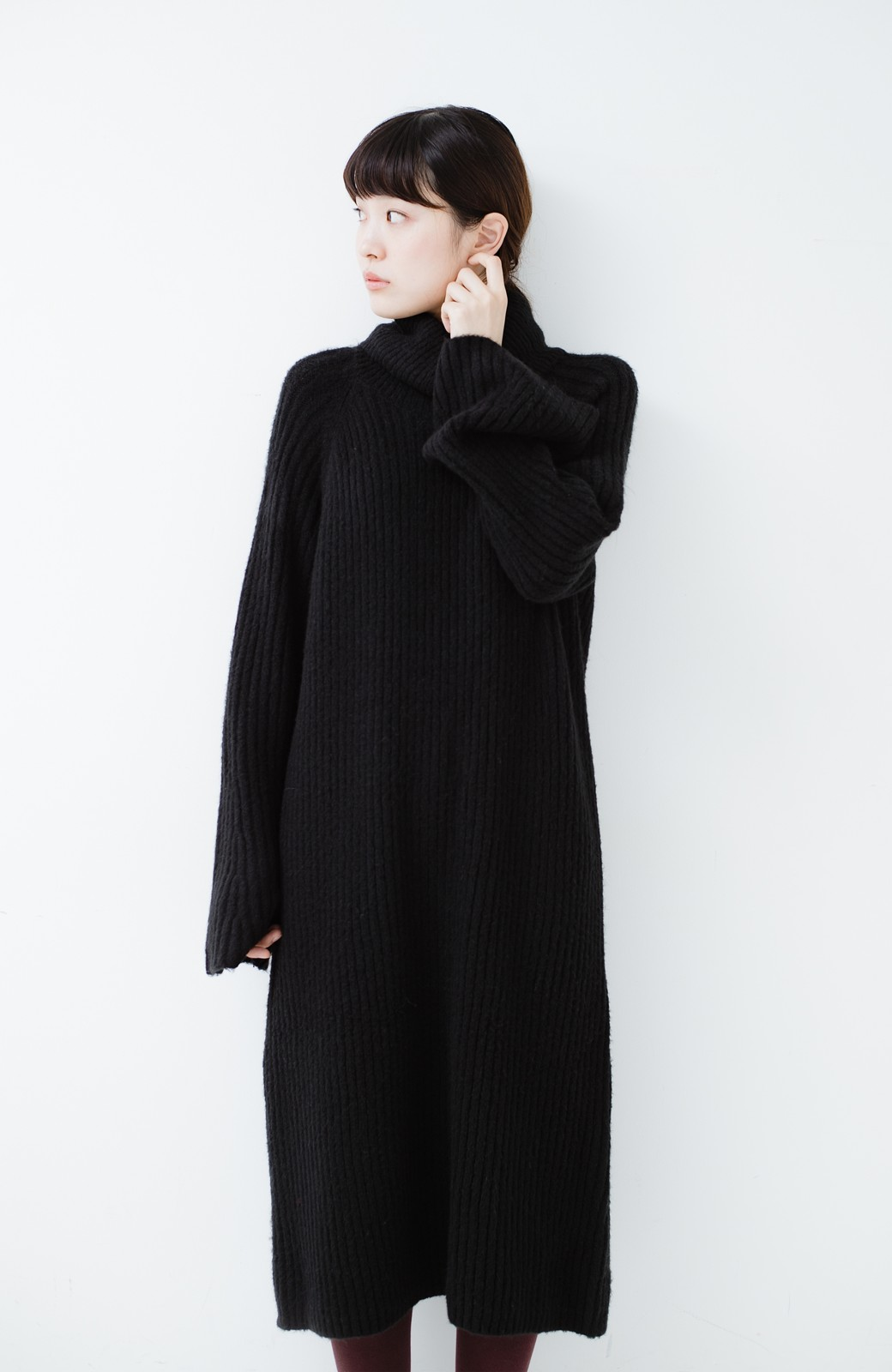 haco! 女っぽニットワンピース <ブラック>の商品写真9