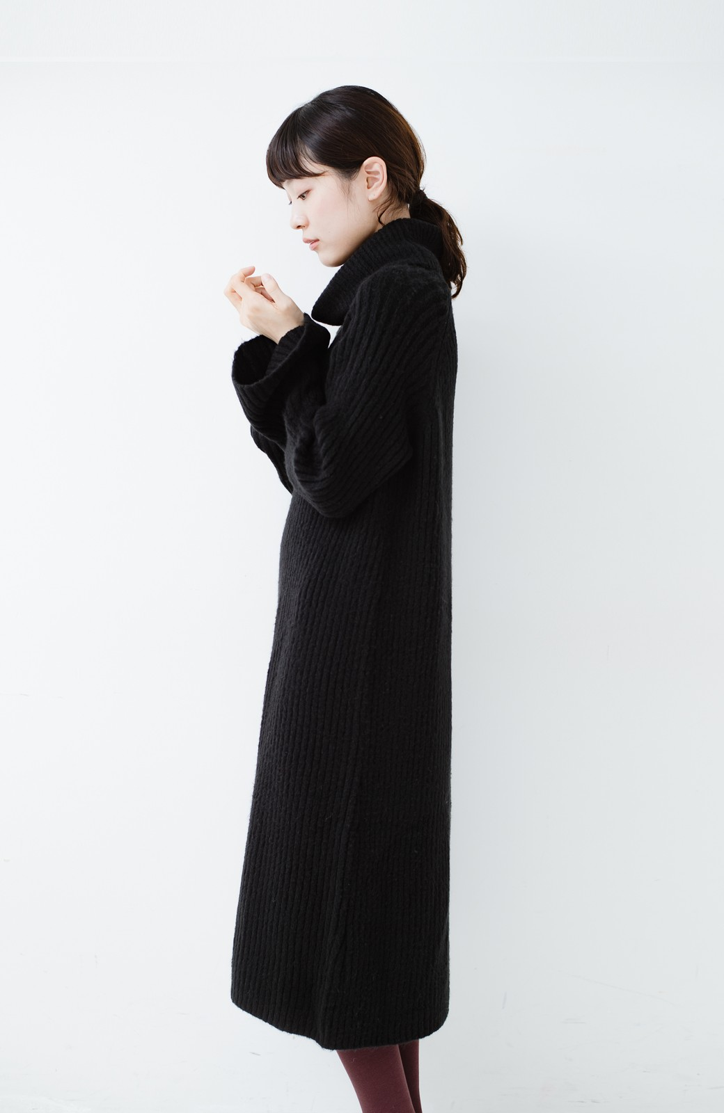 haco! 女っぽニットワンピース <ブラック>の商品写真10