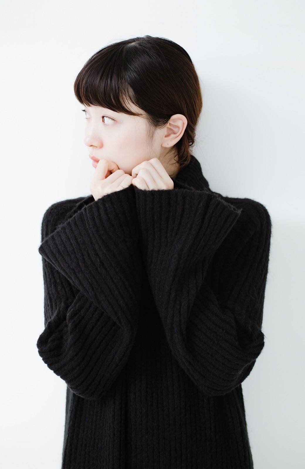 haco! 女っぽニットワンピース <ブラック>の商品写真12