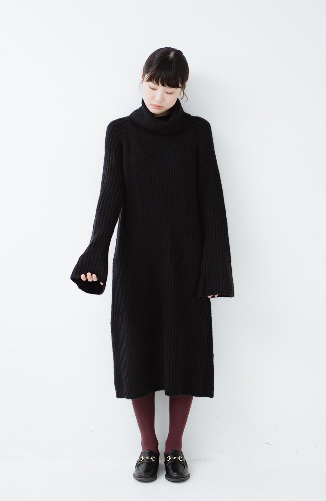 haco! 女っぽニットワンピース <ブラック>の商品写真4