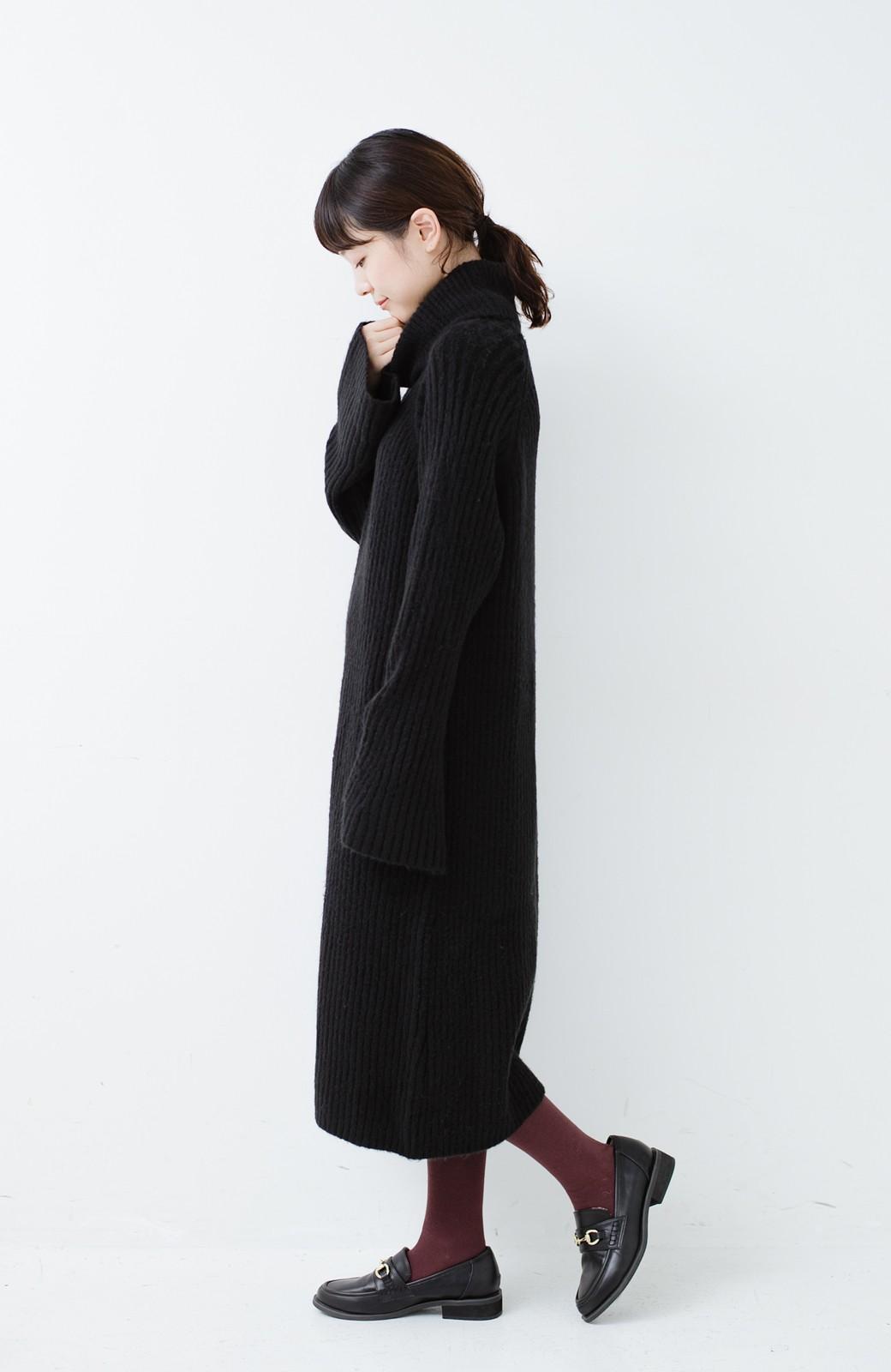 haco! 女っぽニットワンピース <ブラック>の商品写真7