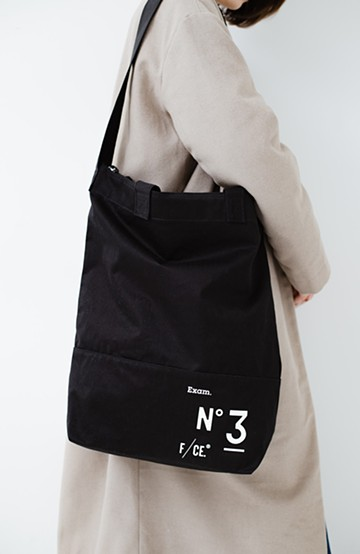 haco! F/CE(エフシーイー)NO3 NEWS PAPER BAG <ブラック>の商品写真