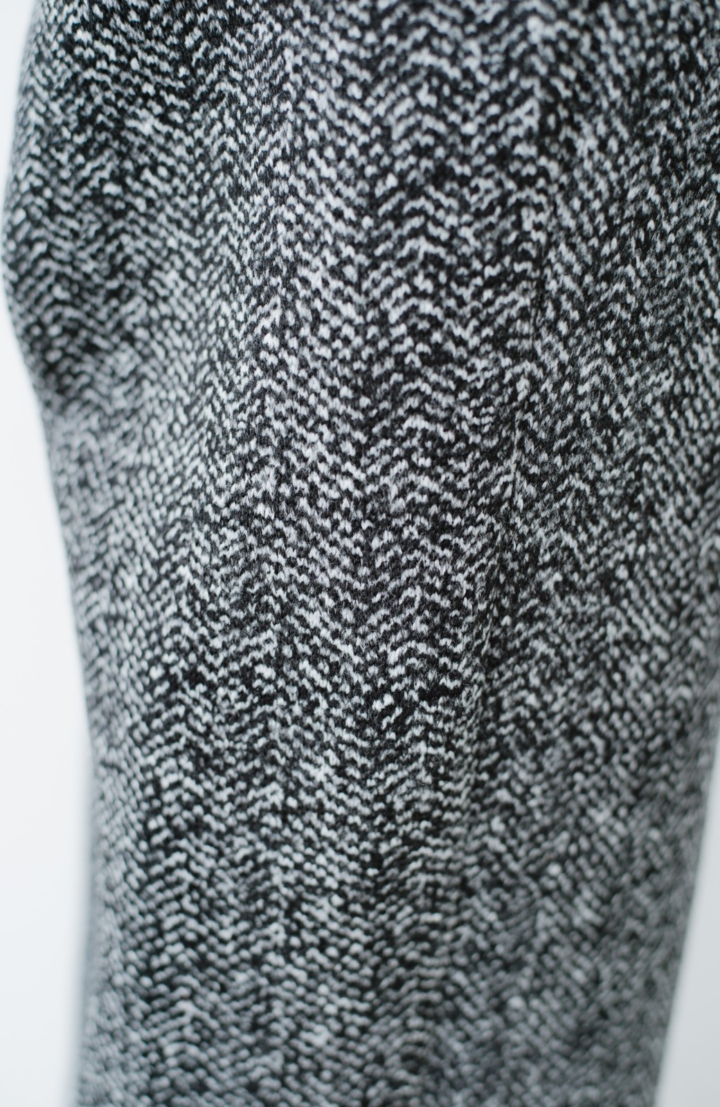 haco! きれいに見せつつ実は暖かい ヘリンボーンプリントワイドパンツ <ホワイト×ブラック>の商品写真13