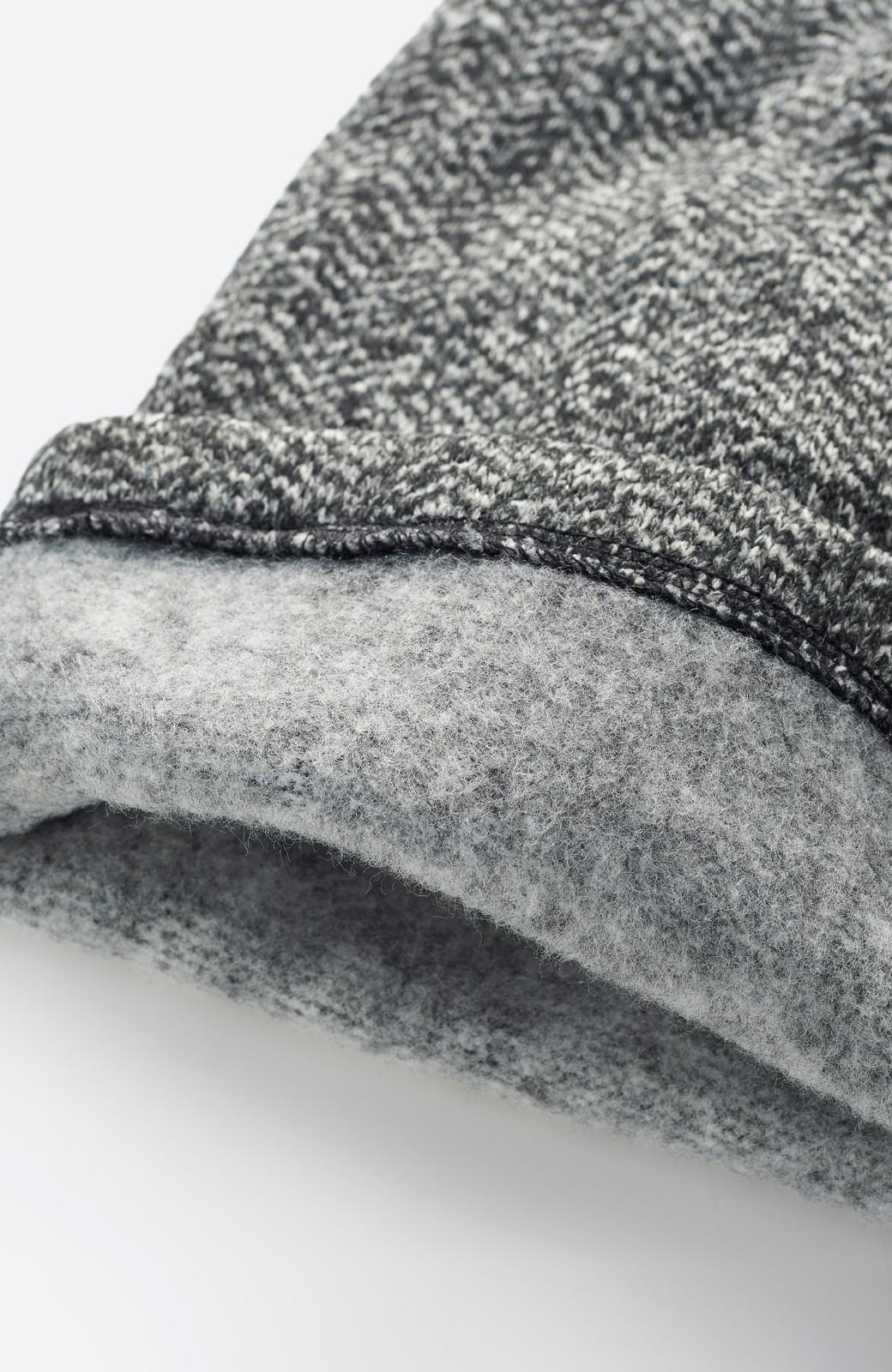 haco! きれいに見せつつ実は暖かい ヘリンボーンプリントワイドパンツ <ホワイト×ブラック>の商品写真3