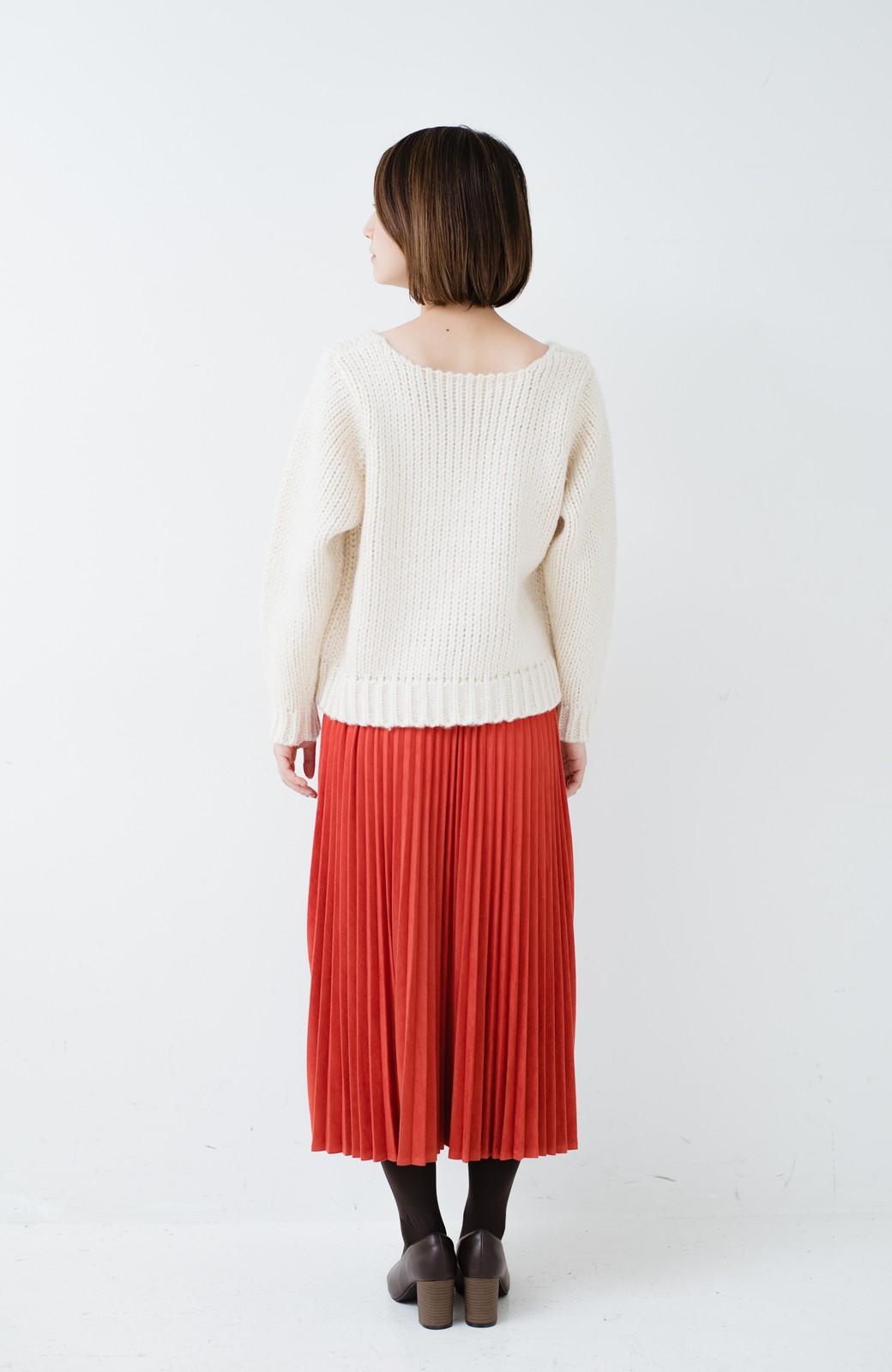haco! さりげなく女っぽい 手編み風ざっくりニット <アイボリー>の商品写真11