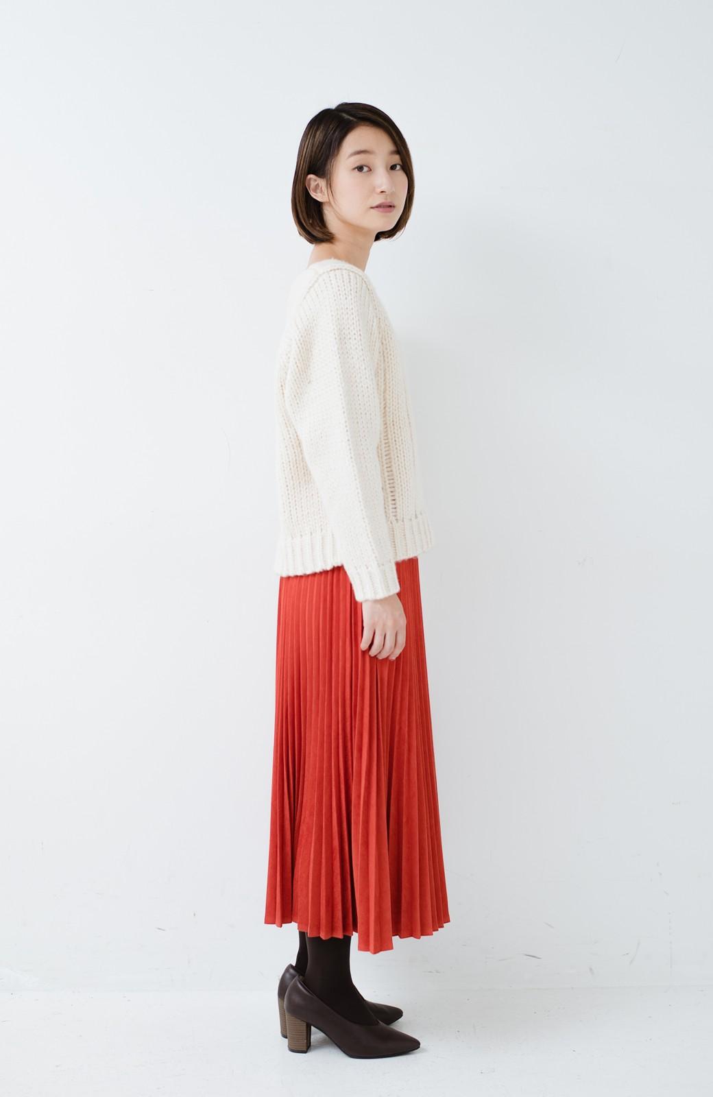 haco! さりげなく女っぽい 手編み風ざっくりニット <アイボリー>の商品写真8