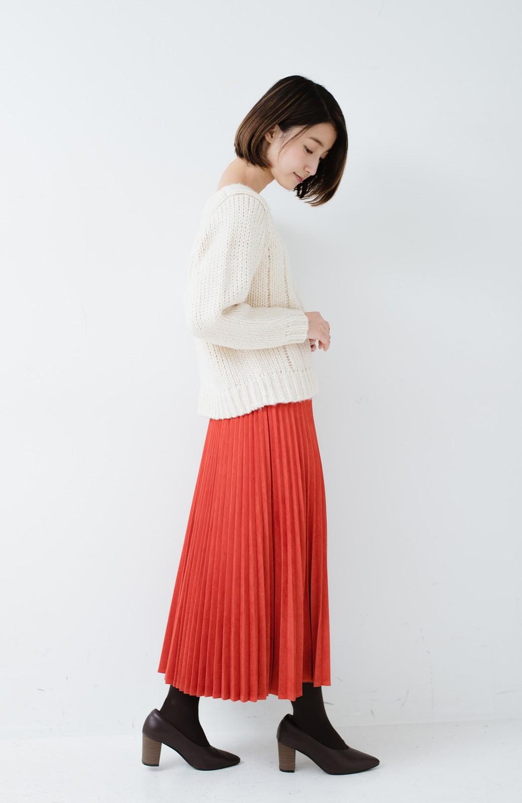 haco! さりげなく女っぽい 手編み風ざっくりニット <アイボリー>の商品写真9