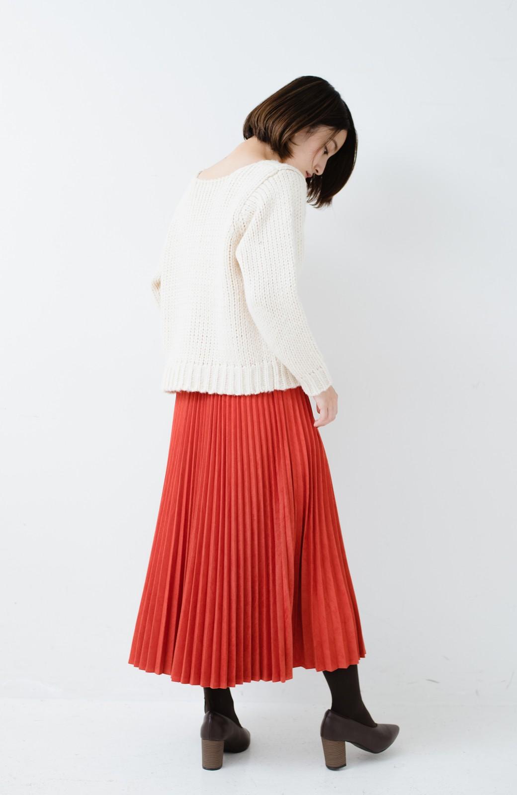 haco! さりげなく女っぽい 手編み風ざっくりニット <アイボリー>の商品写真10